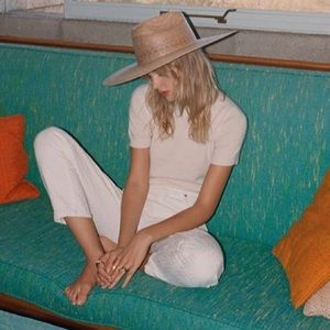 Lack of Color Western Wide Palma Palm Leaf Sun Hat